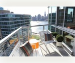 Long Island City. Luxury one bedroom with balcony. River views! $2,775/month.